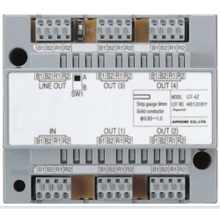 Aiphone GT-4Z 4 Monitor Distribution Adapter for GT System