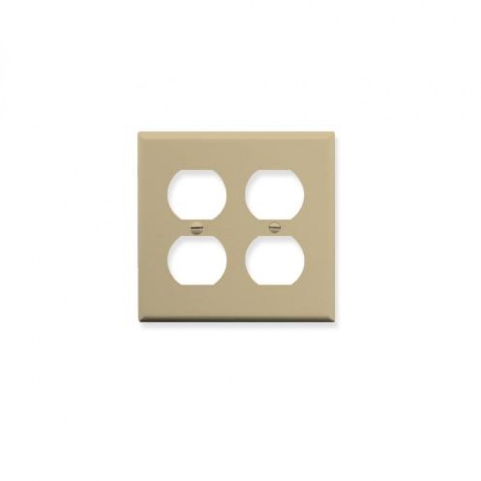 ICC IC106FP4IV 2-Gang Electrical Faceplate Ivory