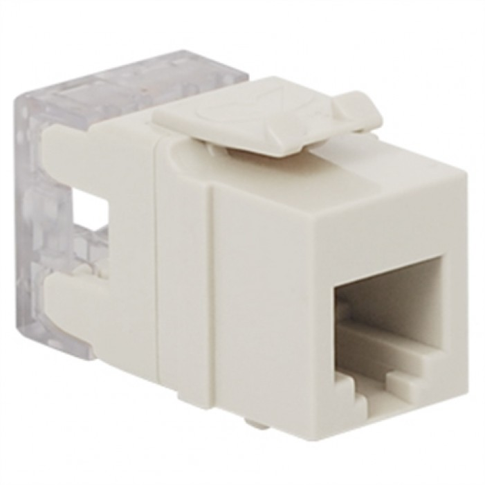 ICC IC1076F0WH HD RJ-11 Keystone Jack, White
