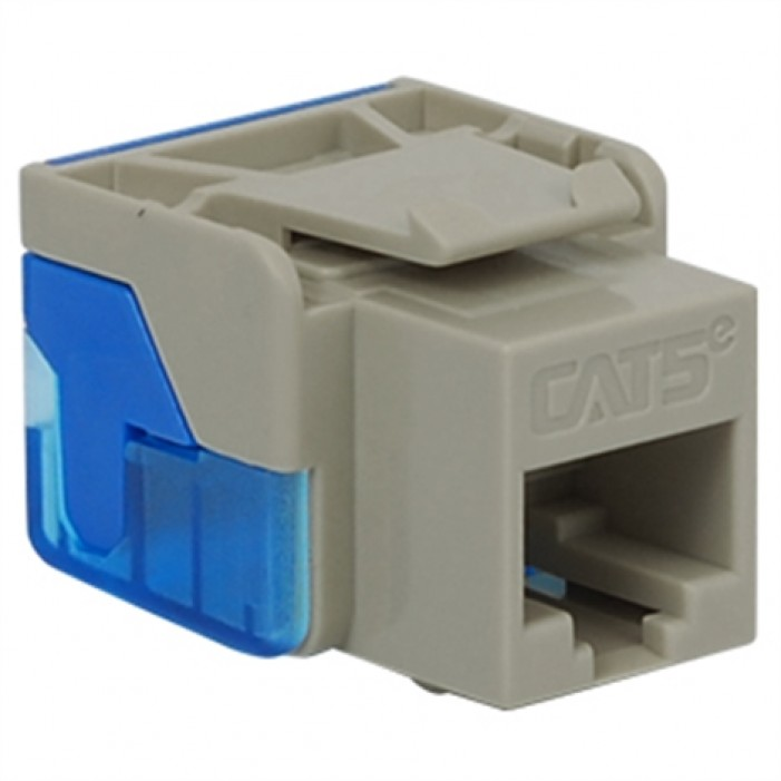 ICC IC1078E5GY CAT 5e EZ Keystone Jack, Gray