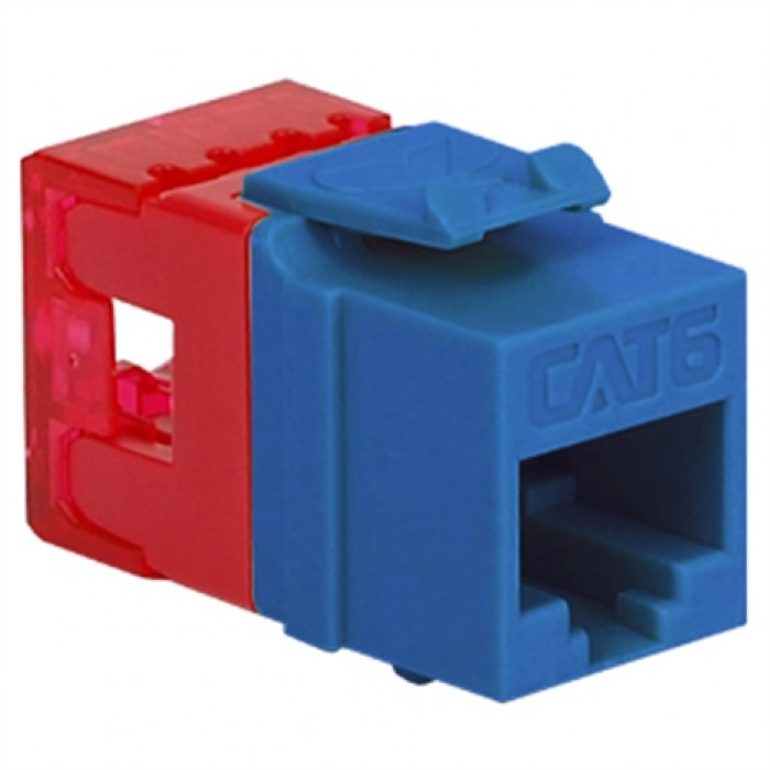 ICC IC1078F6BL HD CAT 6 Keystone Jack, Blue