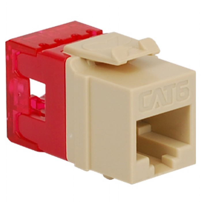 ICC IC1078F6IV HD CAT 6 Keystone Jack, Ivory