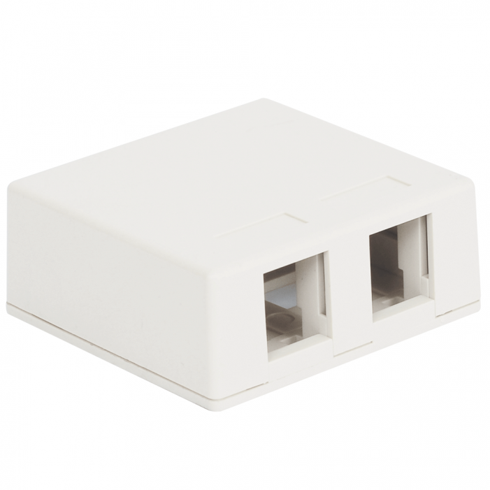 ICC IC107SB2WH 2-Port Surface Mount Box - White