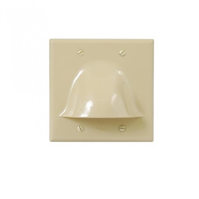 ICC IC640BDSIV 2-Gang Bulk Wire Faceplate - Ivory