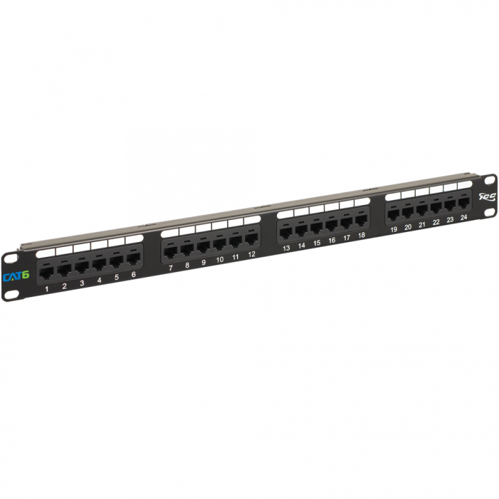 ICC ICMPP02460 24-Port Cat 6 Data Patch Panel, 1 RMS