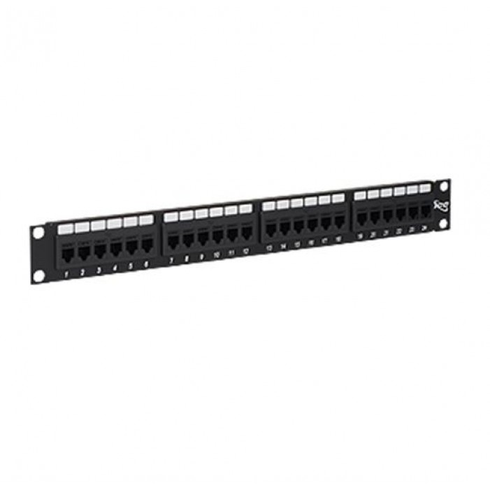 ICC ICMPP24CP5 24-Port Cat 5e Feed-thru Patch Panel, 1 RMS
