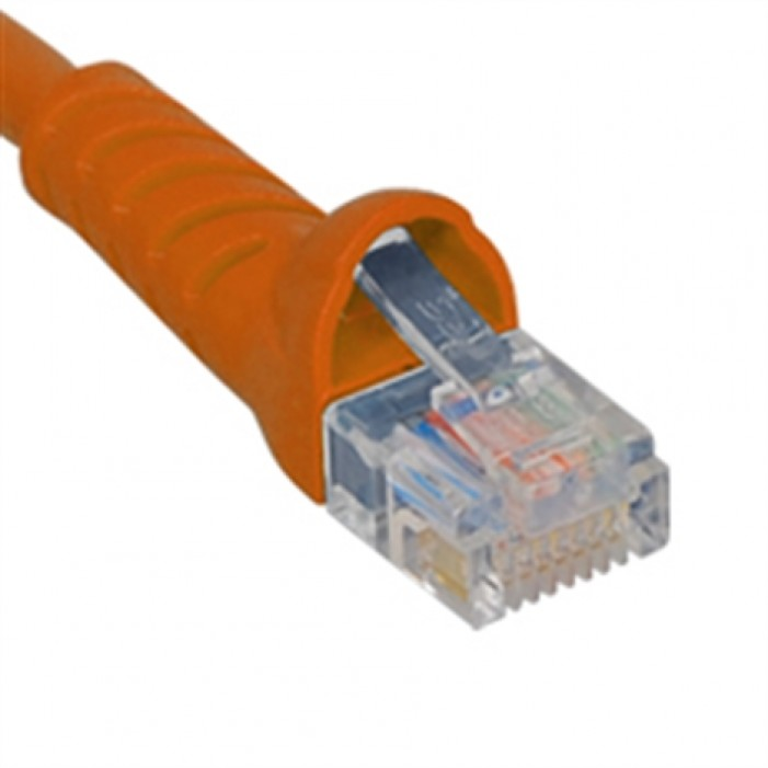 ICC ICPCSJ01OR Molded Boot Patch Cord, Orange, 1 Ft.
