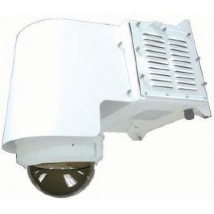 "Moog IGDW75CF1 Outdoor IP Ready 7"" Outdoor Air Conditioned Dome Housing with Wall and Pole Mount"