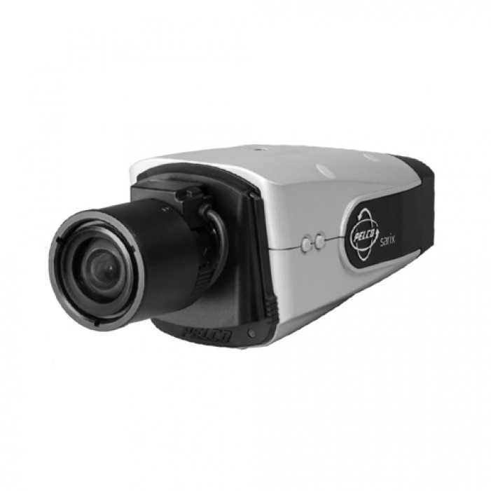 Pelco IXS0C50-EAT 0.5 Megapixel Outdoor IP Color Box Camera with Wall Mount Sunshield, 15-50mm Lens