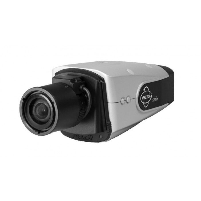 Pelco IXS0C50-EBK 0.5 Megapixel Outdoor IP Color Box Camera with Heater Defroster Blower Wall Mount Sunshield, 15-50mm Lens