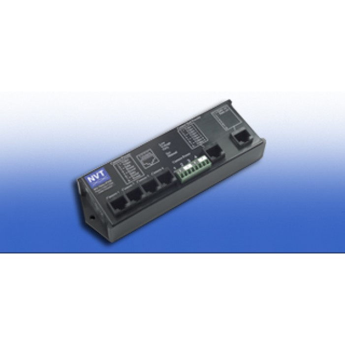 NVT NV-704J-PVD 4 Channel Power-Video-Data Cable Integrator Hub