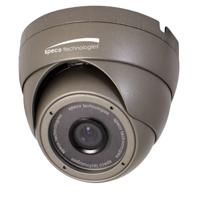 Speco OIPC22T7G OnSIP 420 TVL Indoor/Outdoor Turret IP Camera, 4.3mm Fixed Lens, Dark Gray