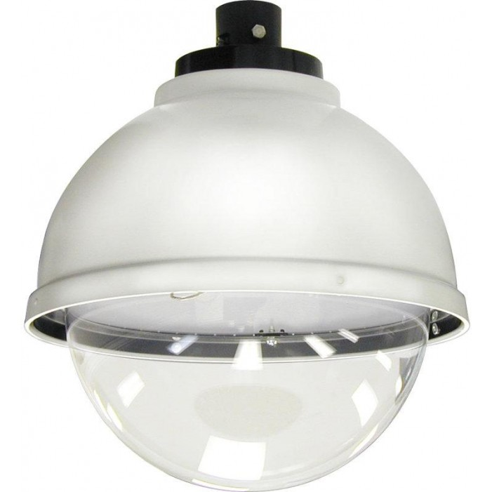 "Moog SDP12C 12"" Indoor/Outdoor Dome Housing with Pendant Mount, Clear Dome"