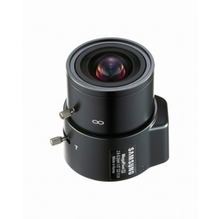 Samsung Security SLA-M2882 1/3-inch Megapixel Lens, DC Varifocal Auto Iris 2.8~8.2mm F1.4 CS-mount