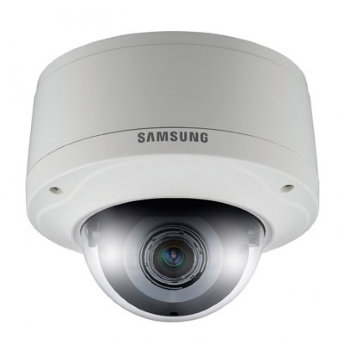 Samsung Security SNV-7080 3 Megapixel Full HD Vandal-Resistant True Day/Night Dome Camera, PoE