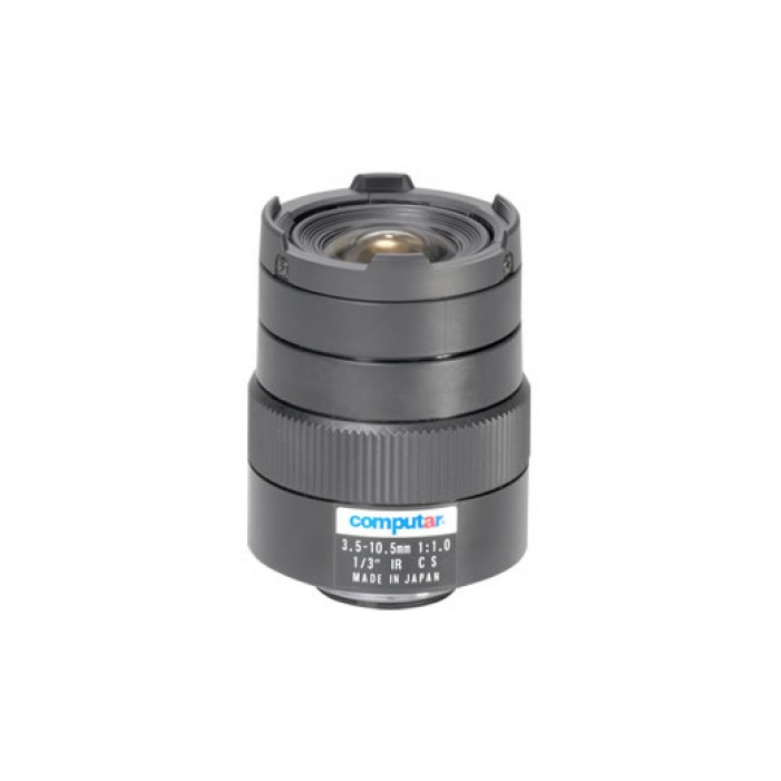 Computar T3Z3510CS-IR 1/3-inch 3.5-10.5mm f1.0 Varifocal, Manual Iris