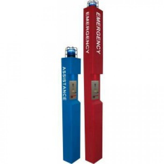Aiphone TW-LCR Tower Top with Light and Cage, Red