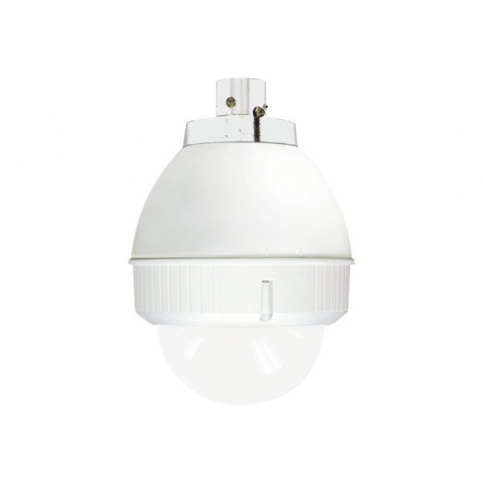 Sony UNI-INL7C2 Indoor, 7-inch pendant mount housing, for SNC-RH124, RS44N, RS46N, RX-Series, and RZ25N. AC 24V input. Clear lower dome.