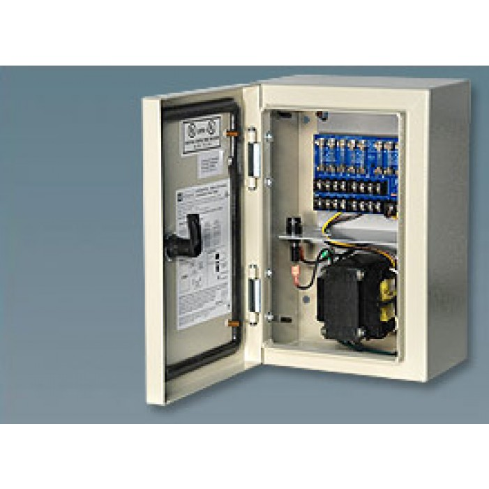 Altronix WPTV248175UL 8 Output Outdoor-rated Power Supply, 24/28 VAC @ 7.0/6.3 Amp Fuse Protected, NEMA 4/IP 65 Cabinet, UL Listed