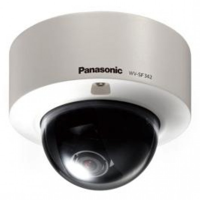 Panasonic WVSF342 i-Pro 1.3 Megapixel Vandalproof Day/Night IP Dome Camera, WDR, PoE