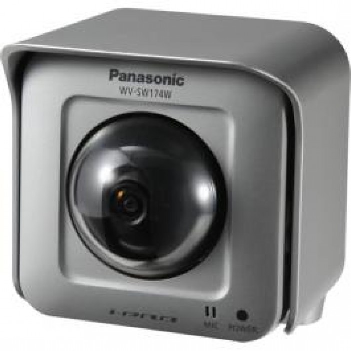 Panasonic WV-SW174W 1.3 Megapixel Outdoor Wireless Pan/Tilting Day/Night Network Camera, 1.95mm