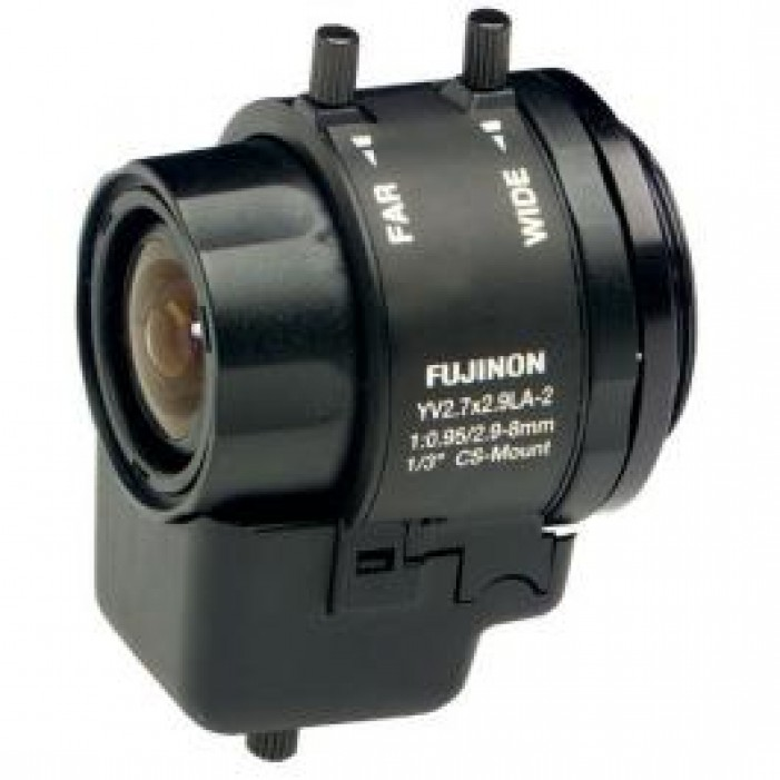 Fujinon YV2.7X2.9LR4D-2 1/3-inch 2.9-8mm F0.95 Day/Night Aspherical Manual-Iris Vari-Focal Lens