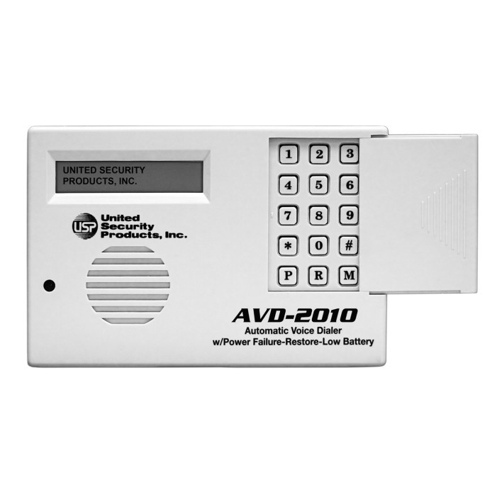 United Security Products AVD-2010 Auto Voice Dialer with PLS, PRS & Low Battery Indicator, AC-2P Included