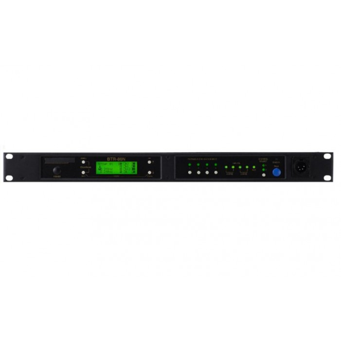 Bosch BTR-80N-D4R5 Narrow Band Two-Channel UHF Wireless Base Station, A5F Headset Jack, D4 Band