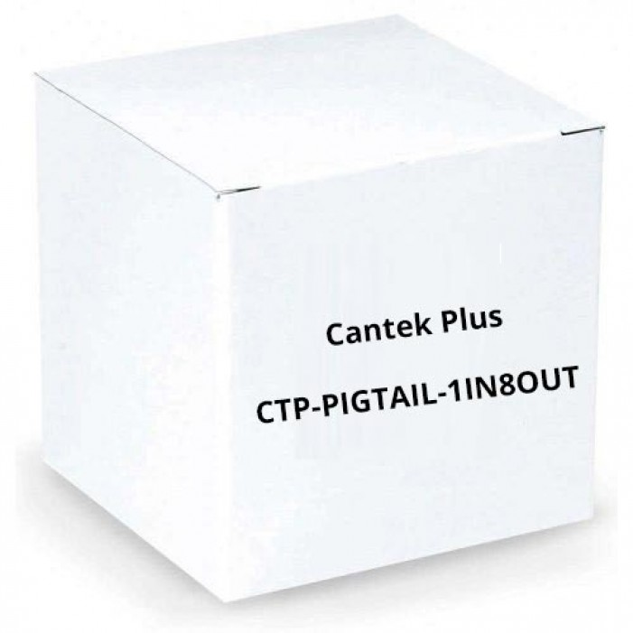 Cantek Plus CTP-PIGTAIL-1IN8OUT DC Male Pigtail with 1 in / 8 out