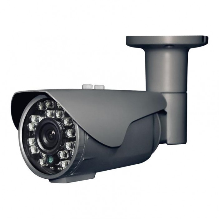 Cantek Plus CTP-TF19STB HD-TVI 1080p Outdoor IR Bullet Camera, 3.6mm Lens, Gray