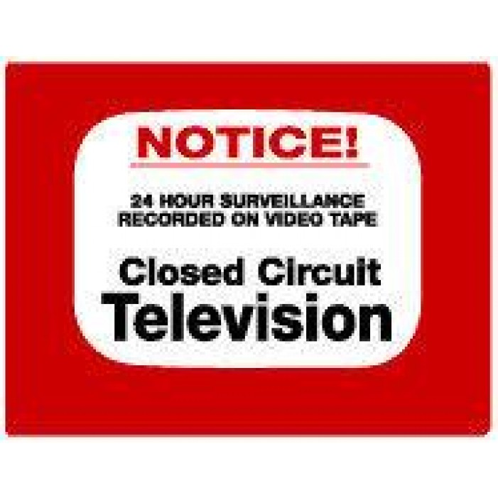 Maxwell DTV-202 CCTV Notice Decal