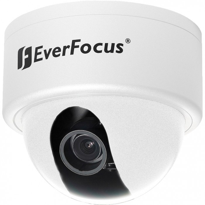 Everfocus ED610/MVBW Color Day/Night plus Wide Dynamic Range, Outdoor Vandal Dome Camera, White