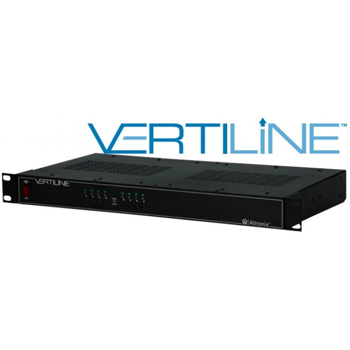"Altronix VertiLine8i 8 Output Isolated Rack Mount Power Supply, 24/28 VAC @ 8 Amp, Isolated Fuse Protected, 1U EIA 19"" Rack Mount Chassis, UL Listed"