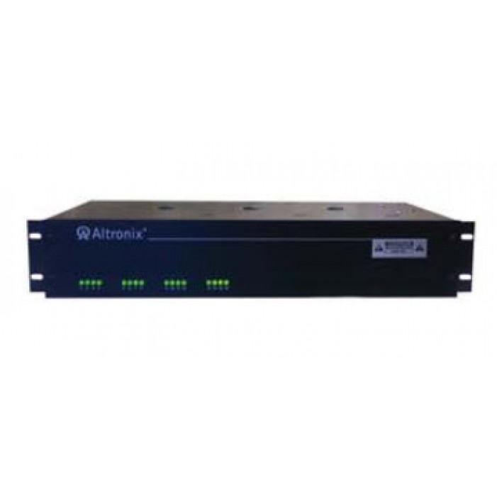 """Altronix R615DC8ULCB 8 Output Rack Mount Power Supply, 6-15 VDC @ 4 Amp, Circuit Breaker Protected, 2U EIA 19"""" Rack Mount Chassis, UL Listed"""