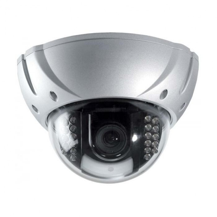 Speco HT650IRVFHQS 650 TVL Indoor/Outdoor IR Dome Camera, 2.8-12mm Lens, Silver