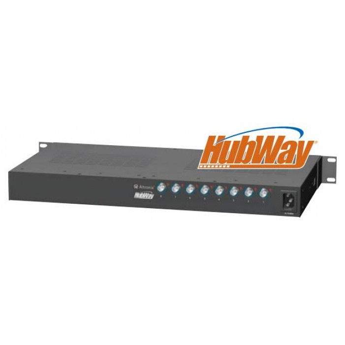 Altronix HubWay8Di 8 Channel Passive UTP Transceiver Hub, Isolated Power