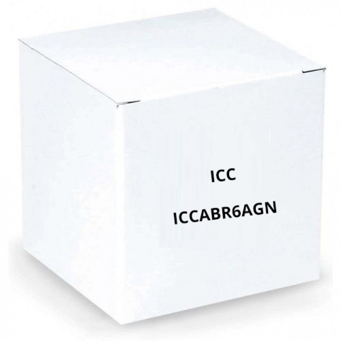 ICC ICCABR6AGN 650MHz CAT6A Bulk Cable with 23 AWG UTP Solid Wires, CMR Jacket in a Pull Box, 1000', Green