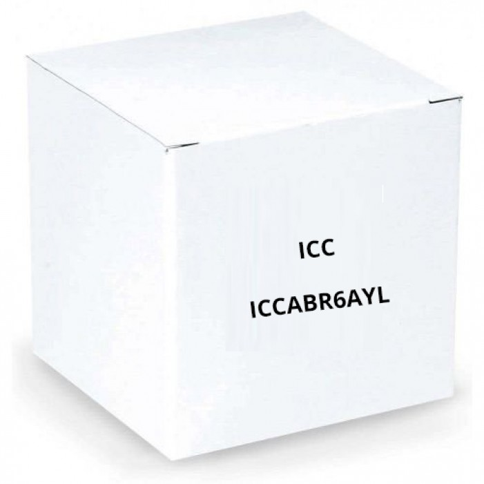 ICC ICCABR6AYL 650MHz CAT6A Bulk Cable with 23 AWG UTP Solid Wires, CMR Jacket in a Pull Box, 1000', Yellow