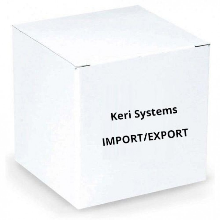 Keri Systems IMPORT-EXPORT License Fee for Import/Export Cardholders