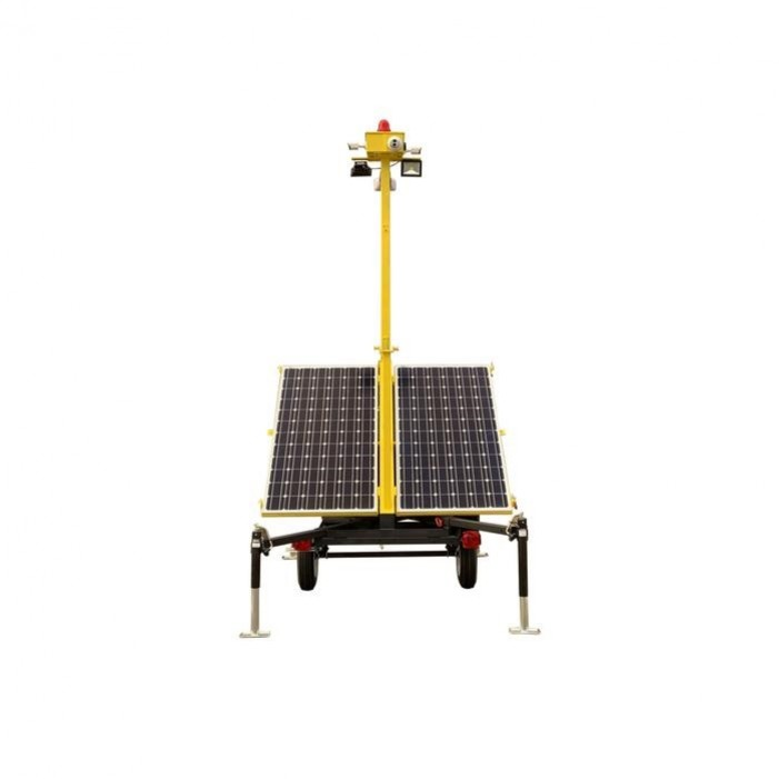 InVid INVID-4000S1A Network Solar Surveillance Tower with Two 4MP Network IR Eyeball/Bullet Camera