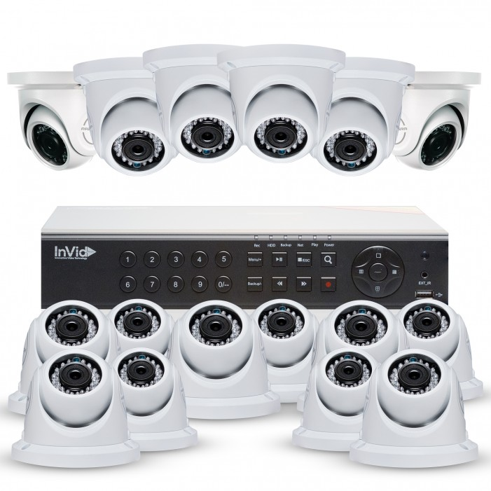 Cantek Plus NW16D4TB All Purpose Home Security Camera System, 16 Dome Cameras