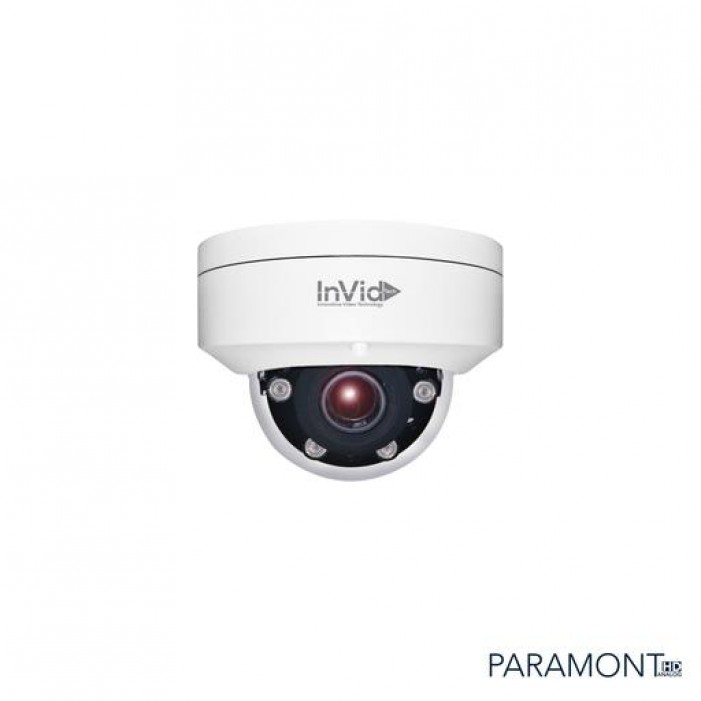 InVid PAR-ALLDRXIRA27135BD 2688 × 1944 HD-TVI, HD-CVI, HD-AHD, Analog IR Outdoor Dome Camera, 2.7-13.5mm Lens