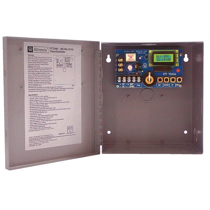 Altronix PT724AE Single Channel Annual Event Timer