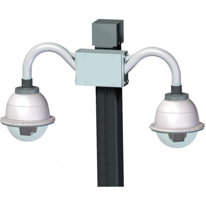 Videolarm PV8 Pole Mount for Two Dome Installation, PV16/18 Poles ONLY