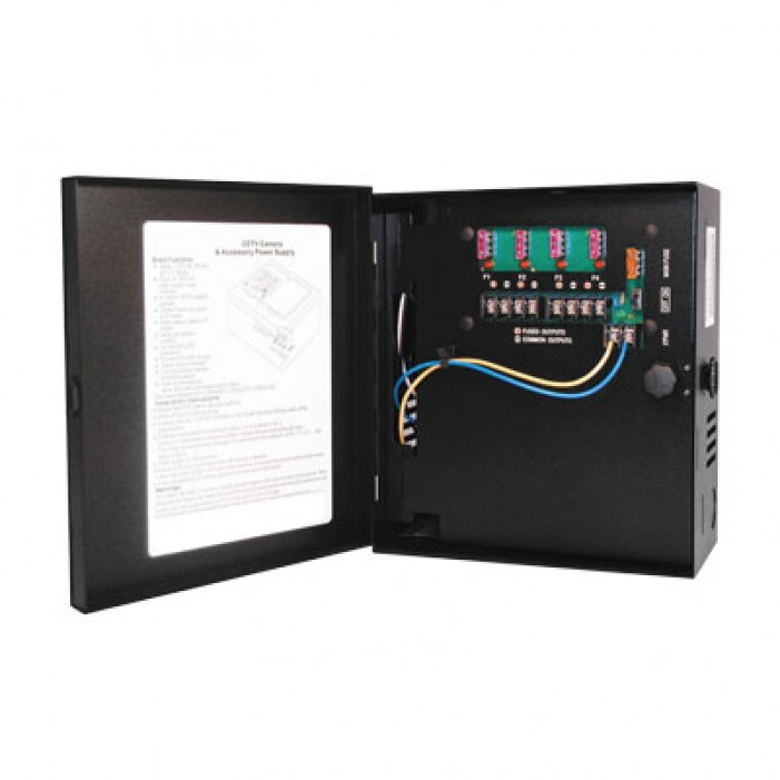 Samsung Security PWR-12DC-8-5 Small Enclosed 8-Output, 5 Amp 12VDC Power Supply