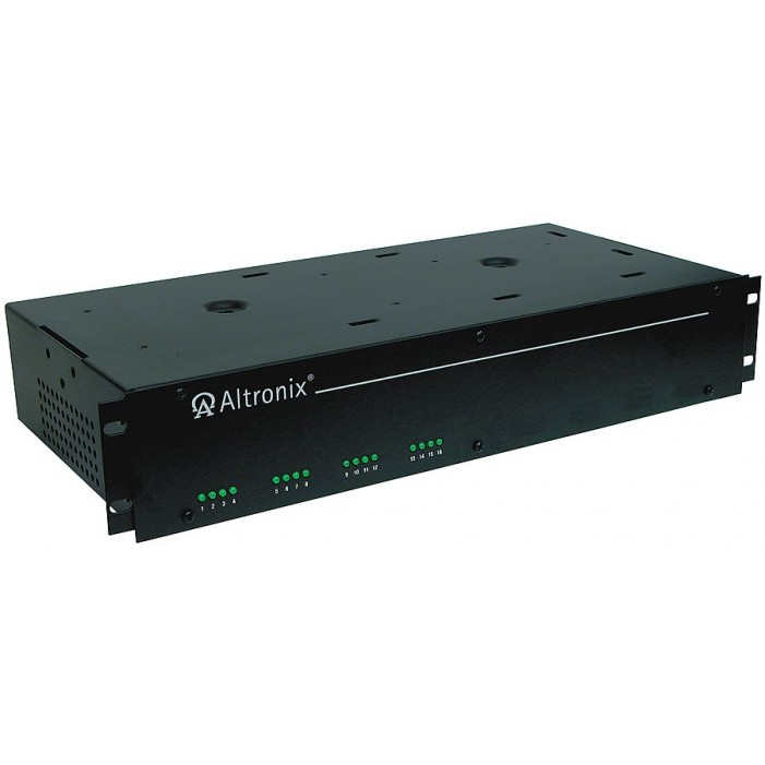 """Altronix R2416600UL 16 Output Rack Mount Power Supply, 24/28 VAC @ 25/20 Amp, Fuse Protected, 2U EIA 19"""" Rack Mount Chassis, UL Listed"""