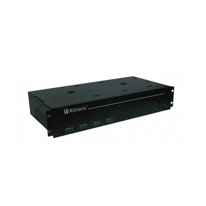 "Altronix R2416UL 16 Output Rack Mount Power Supply, 24/28 VAC @ 7/6 Amp, Fuse Protected, 2U EIA 19"" Rack Mount Chassis, UL Listed"