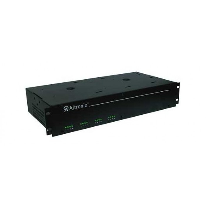 """Altronix R2416ULI 16 Output Isolated Rack Mount Power Supply, 24 VAC @ 25 Amp, Isolated Fuse Protected, 2U EIA 19"""" Rack Mount Chassis, UL Listed"""