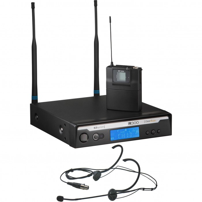 Bosch R300-E-A Head Worn Wireless Microphone System with HM3 Omni‑Directional Microphone