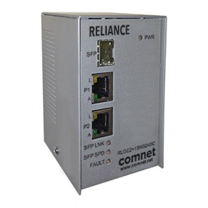 Comnet RLGE2+1SMS24DC Electrical Substation-Rated three-port